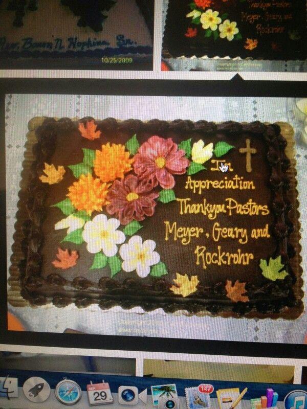 Pastor Appreciation Cake Pastors Appreciation Pastor