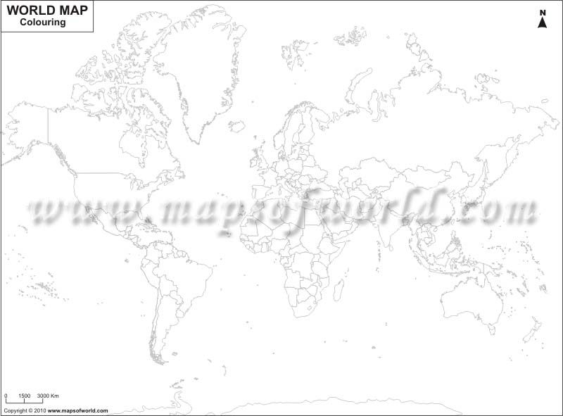 World Outline Map For Coloring Maps Pinterest Geography - Blank world map 1500