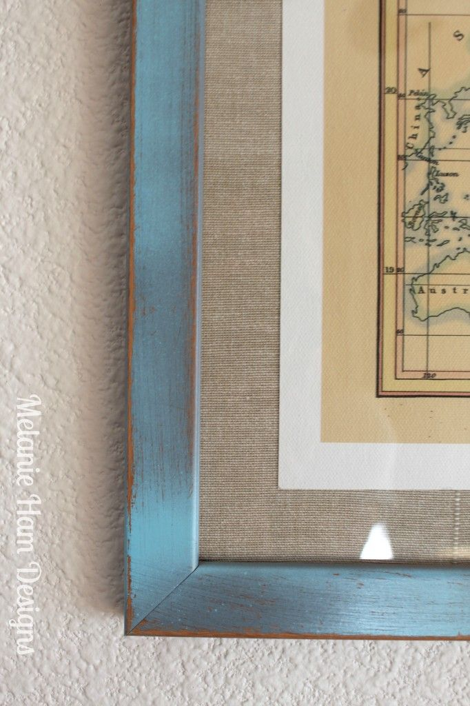 Beachy Chic diy distressed print picture frames shabby budget | | I ...