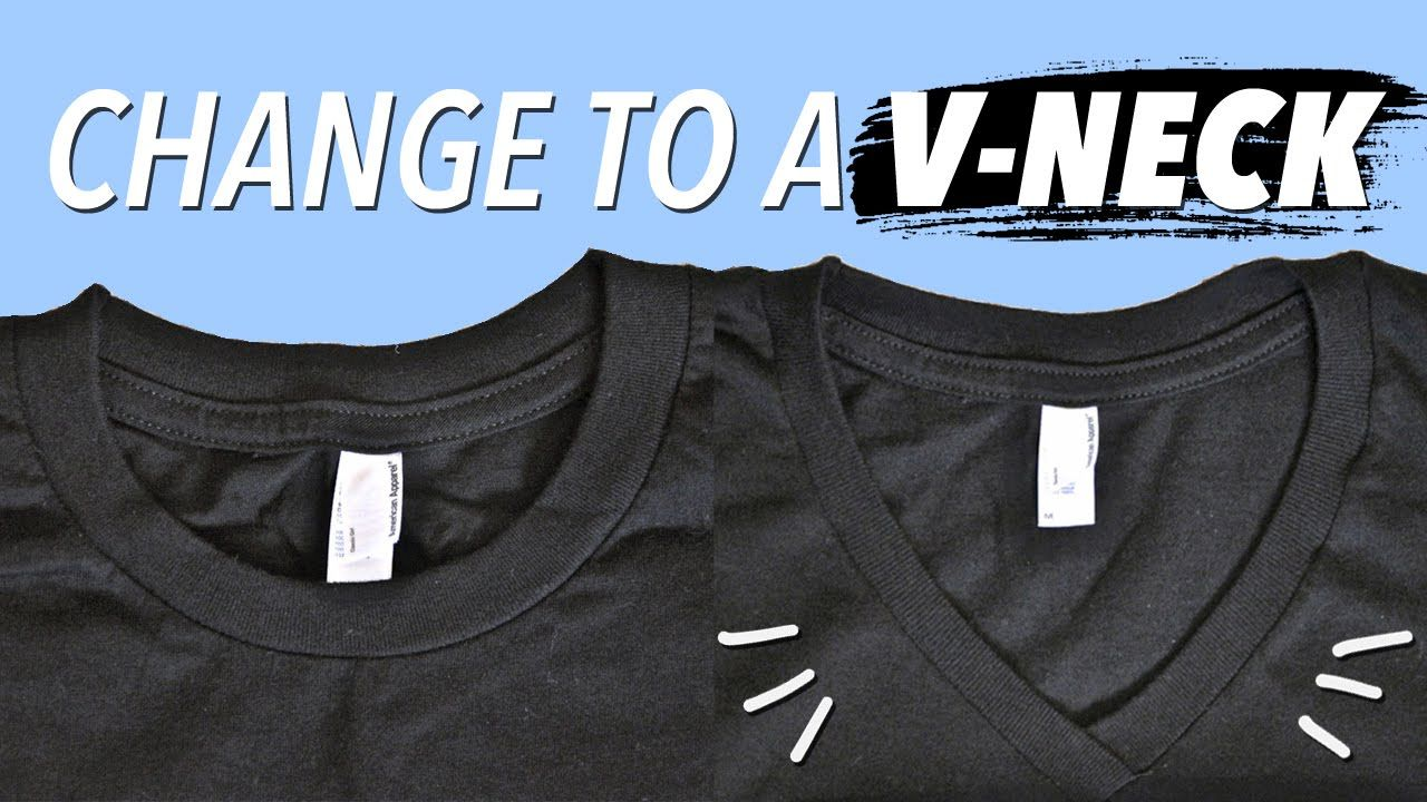 How to make a vneck from a crewneck t shirt hacks
