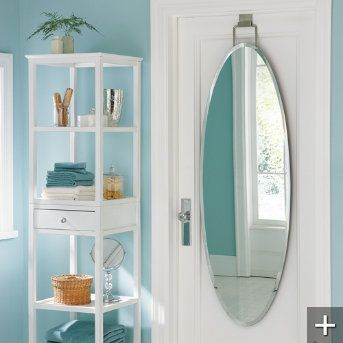 Superior This Easy To Hang Over Door Beveled Door Mirror Is The Fairest Of Them All  With A Beautiful, Frameless Design That Offers The Utility Of A Full Length  ...
