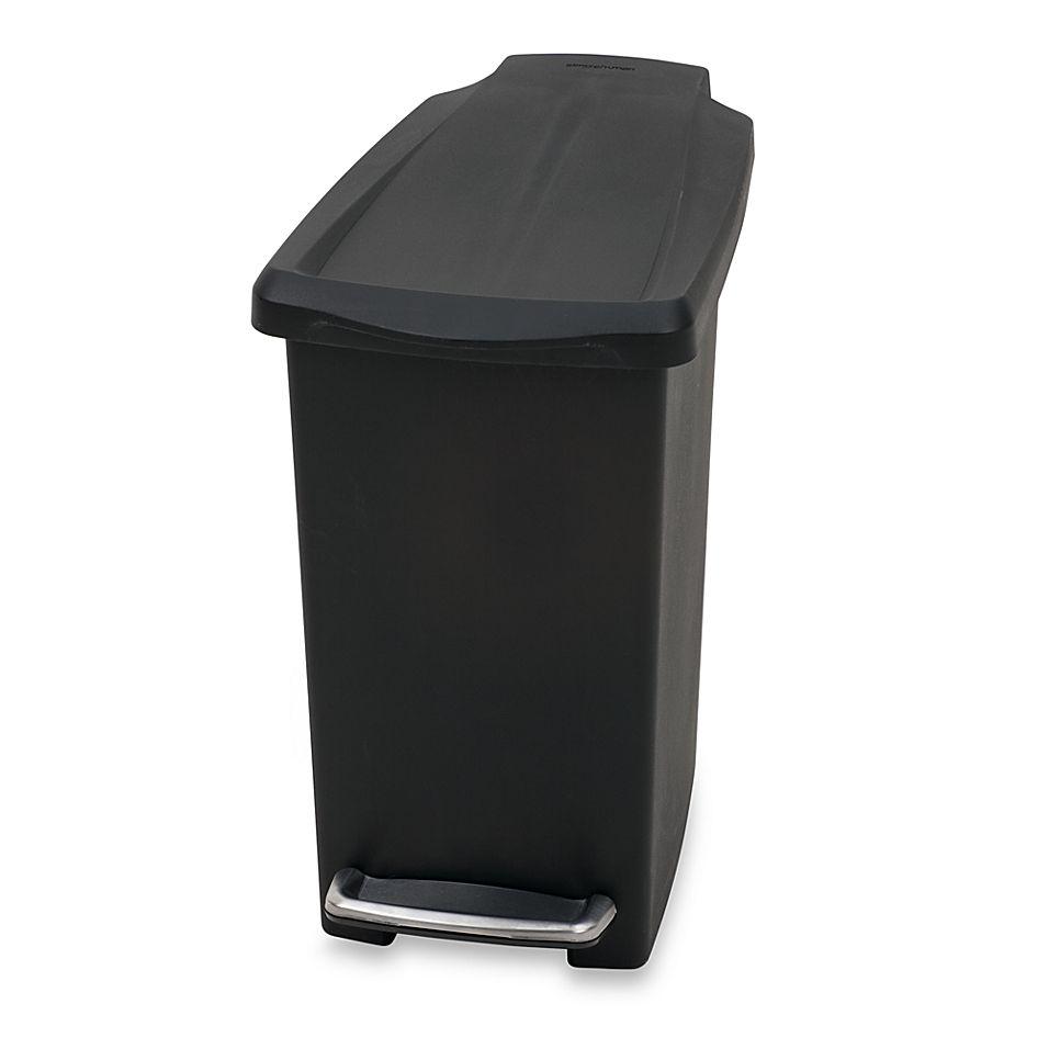 Best Simplehuman Mini Slim Plastic 10 Liter Step On Trash Can 400 x 300