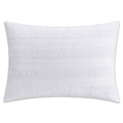Haven Applique Oblong Throw Pillow In White Oblong Throw Pillow