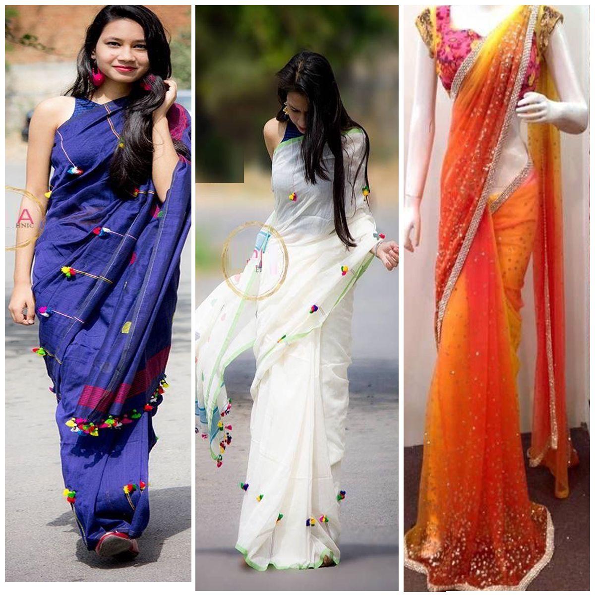 Designer Graceful Saree Pack Of 3 Rs 999 046 Saree Blouse