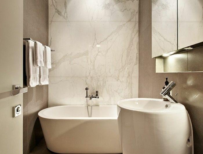 Le carrelage en marbre en 42 photos! Spaces - salle de bains beige
