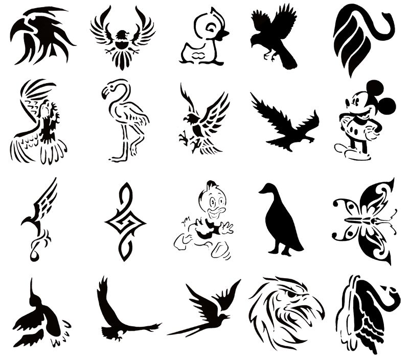 Kustom Airbrush Temporary Tattoo Stencil Booklets Temporary Tattoo Ink Henna Designs Easy Cool Stencils