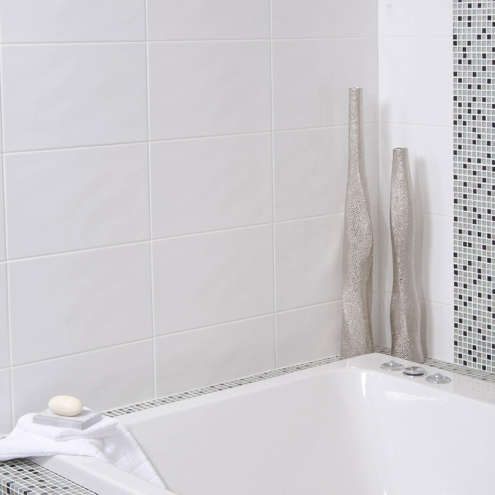 Beret Blanco Tile - Black And White Bathroom Ideas - White Tiles ...