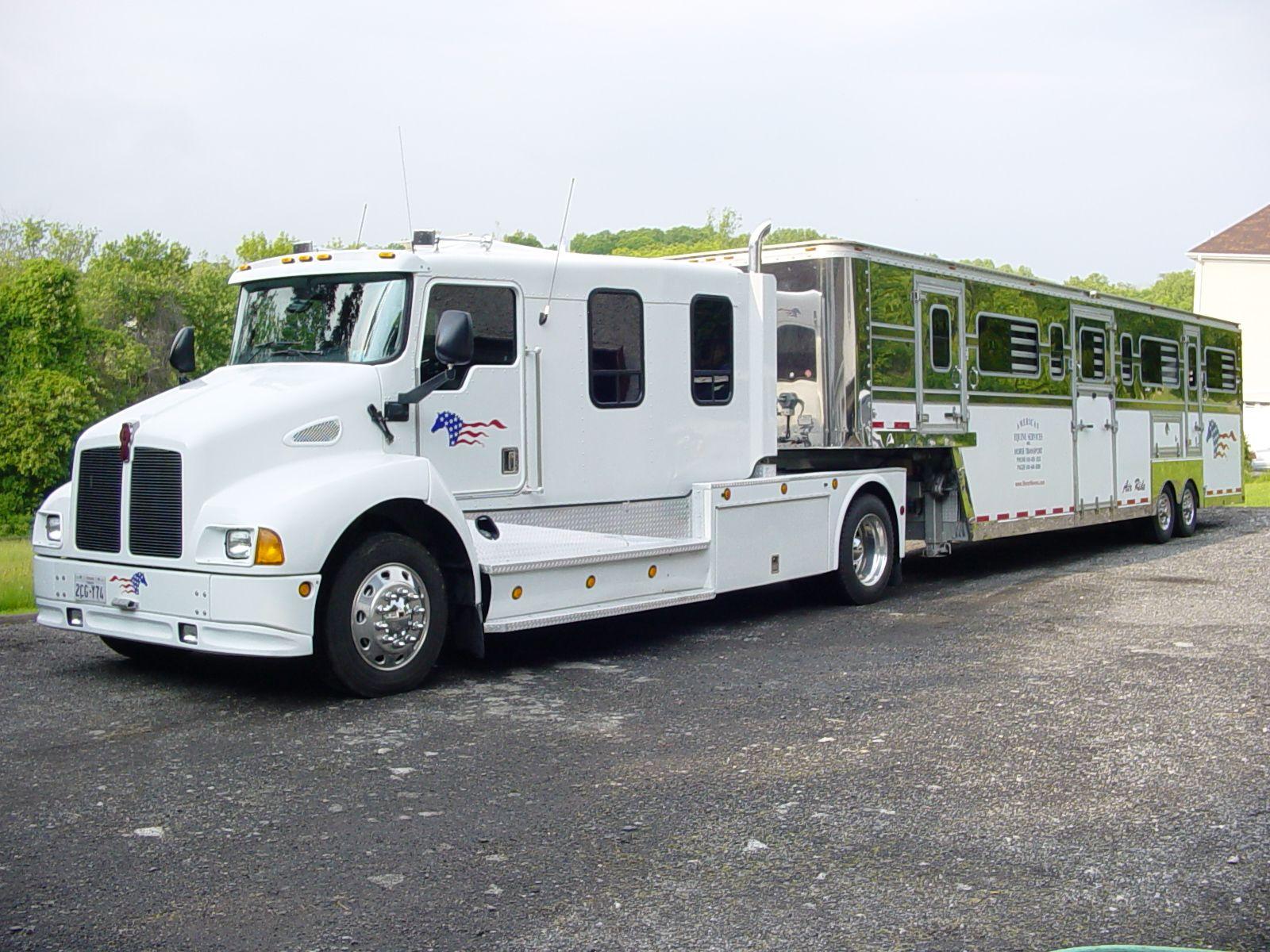 My Kenworth And 10 Horse Pegasus Semi Trailer Kenworth Trucks Horse Trailers Semi Trailer