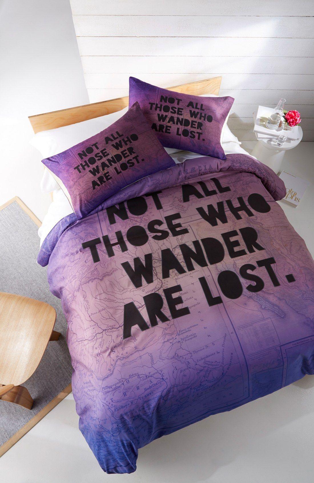 DENY Designs 'Those Who Wander' Duvet Cover Set | Lost, Duvet ...