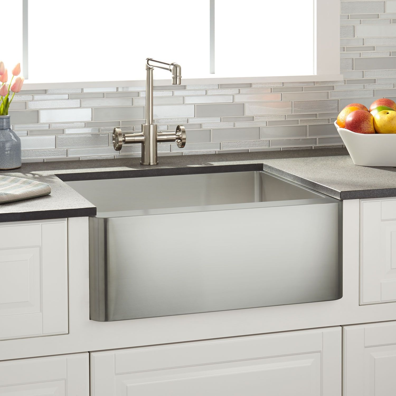 24 Hazelton Stainless Steel Farmhouse Sink Stainless Farmhouse