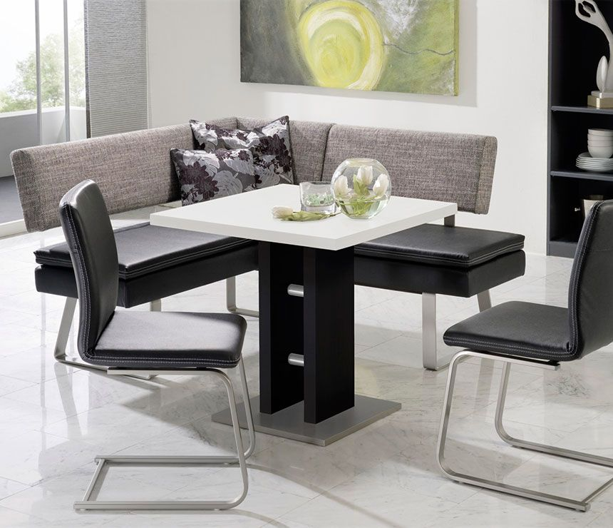 Daisy is a compact bench dining seating and breakfast for Compact table and chairs set