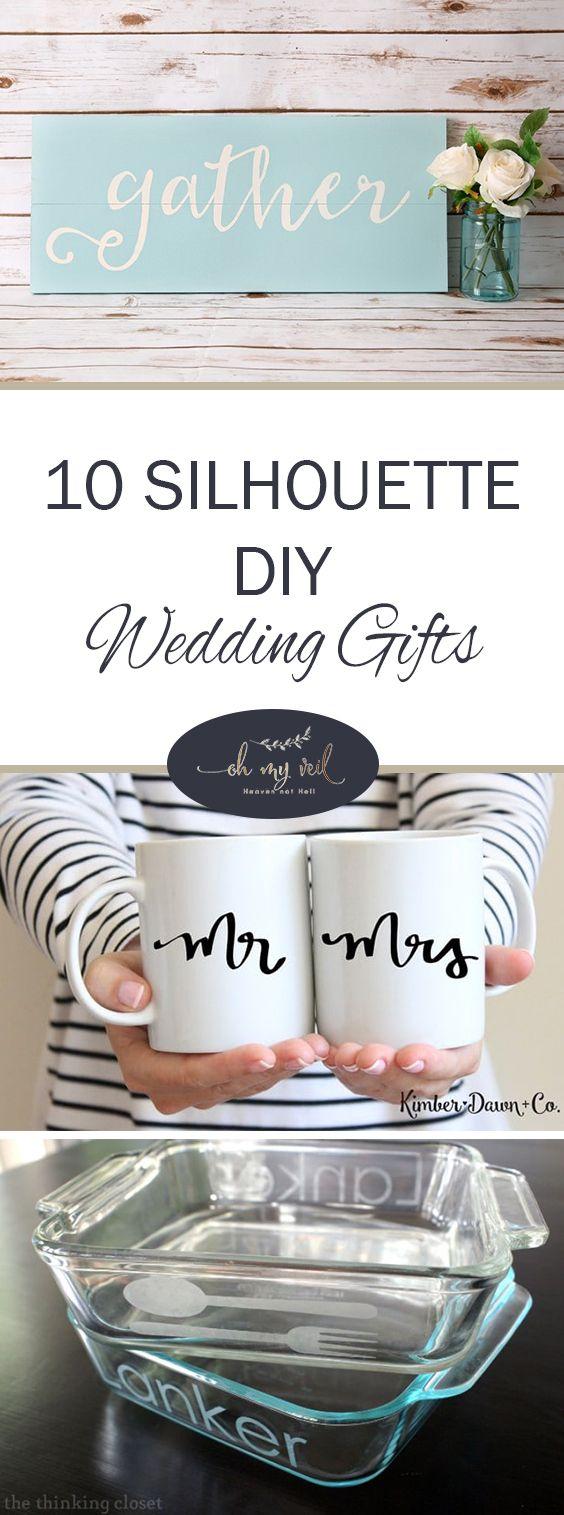silhouette diy wedding gifts wedding gift ideas wedding gifts