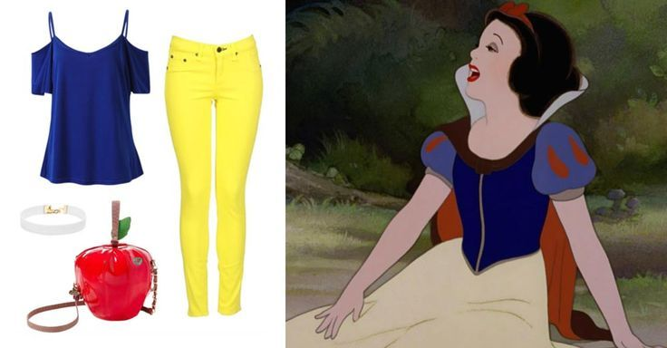 You Pretty Much Need These 14 Novelty Bags to Complete Your Next DisneyBound Look   Snow White-inspired outfit + Betsy Johnson Apple purse   [ http://di.sn/6000B7fNi ] - navy blue blouse, white and black blouse, women's blouse collar styles *ad