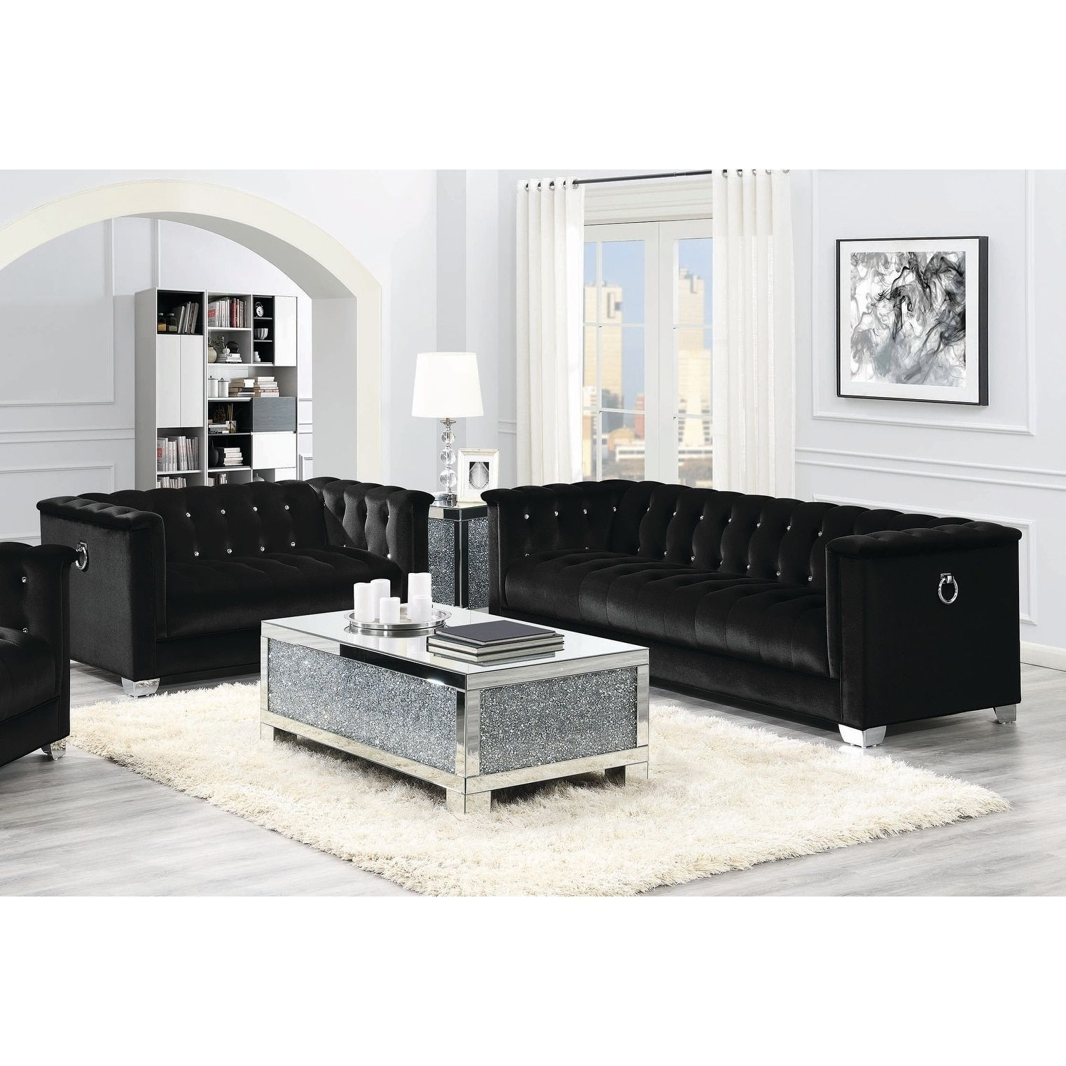 Outstanding Strick Bolton La Rose Black 2 Piece Living Room Set Onthecornerstone Fun Painted Chair Ideas Images Onthecornerstoneorg