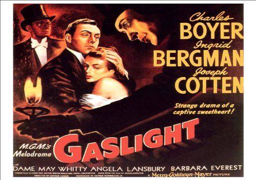 Gaslight Ingrid Bergman vintage movie poster print
