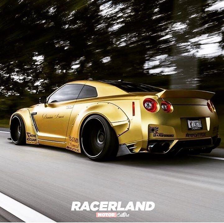 Amamos El Dorado #Nissan #GTR #Gold #Stanced #BodyKit
