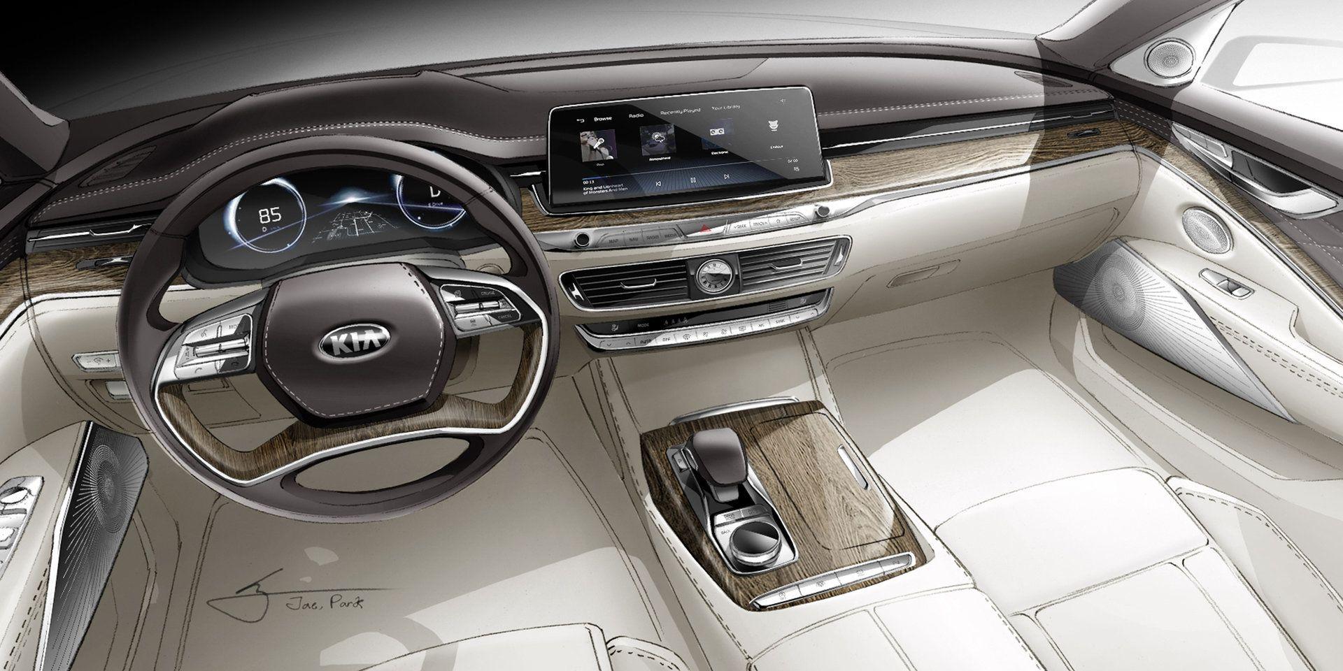 Kia K900 interior (With images) Interior sketch