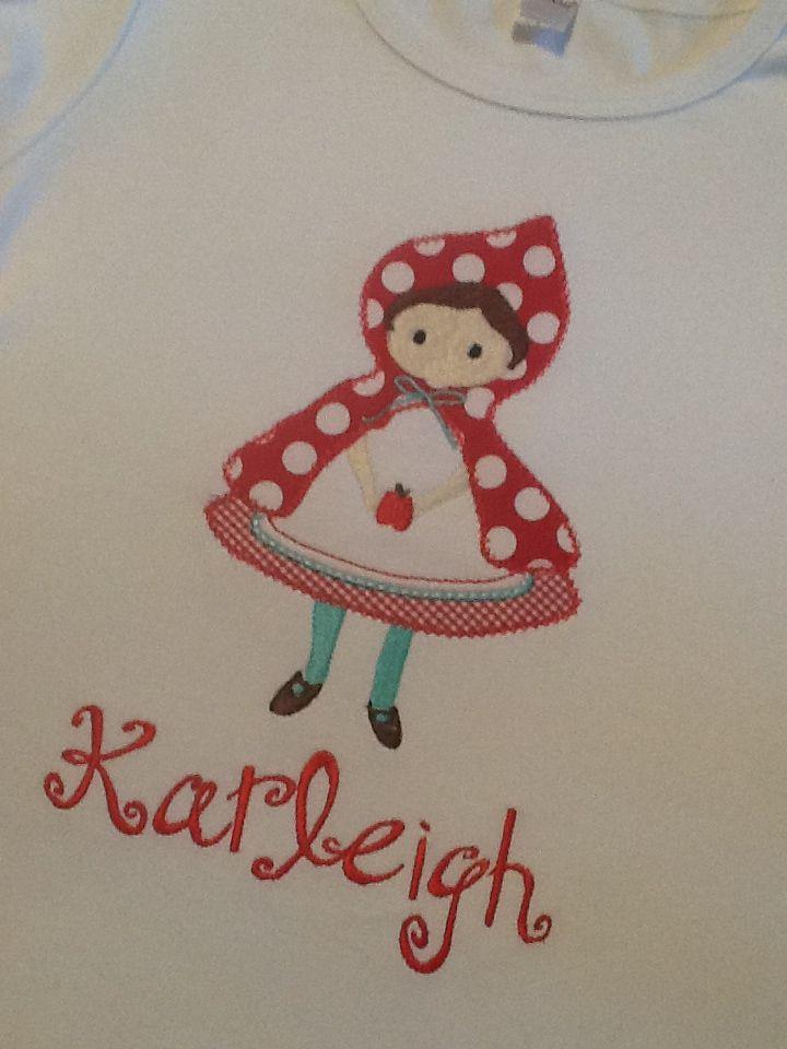 8eb10eff Red riding hood themed birthday shirt...so cute! | My creations ...