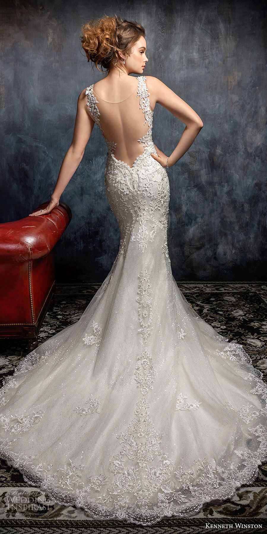 Elegant fitted wedding dresses  Kenneth Winston Couture Wedding Dresses u Fall  Bridal