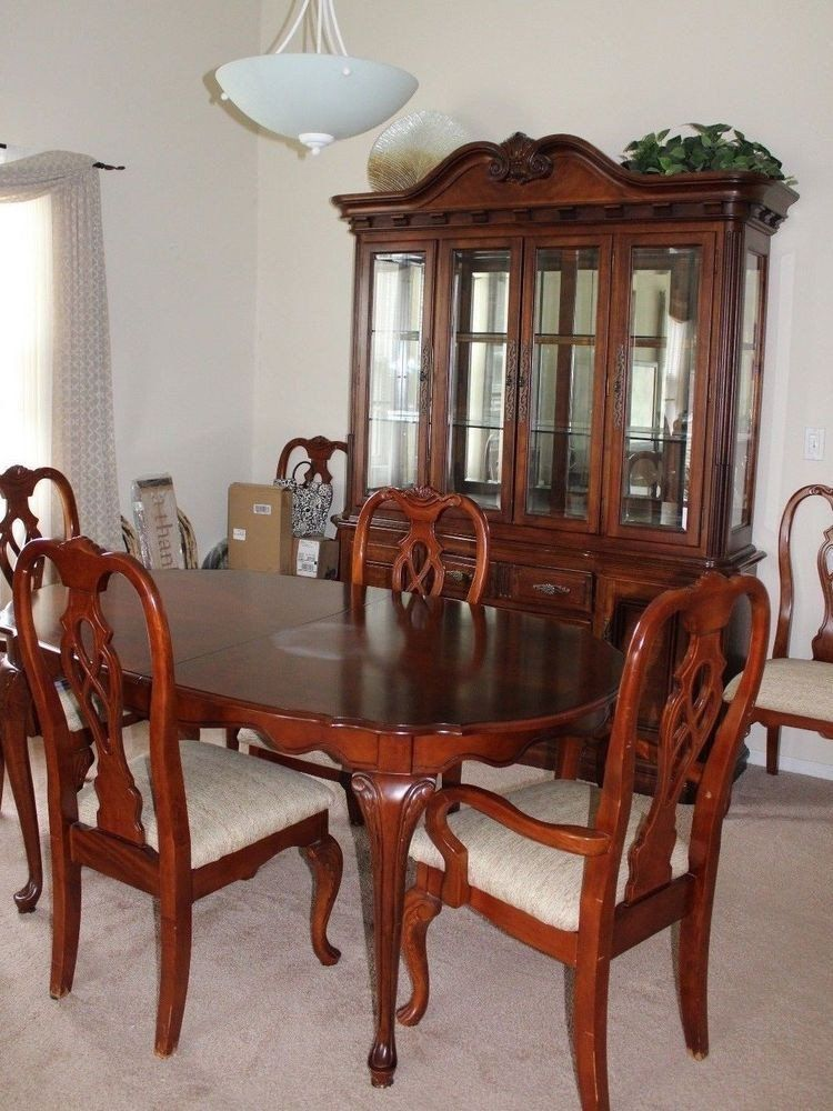Chinese Dining Room Set Solid Wood 10 Piece Formal Dining Room Set With Table Chairs In 2020 Dining Room Table Chairs Formal Dining Room Sets Formal Dining Room Table