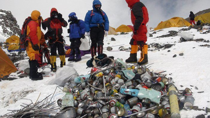 Notice of Nepal to Clean Mount Everest Garbage or Dirty