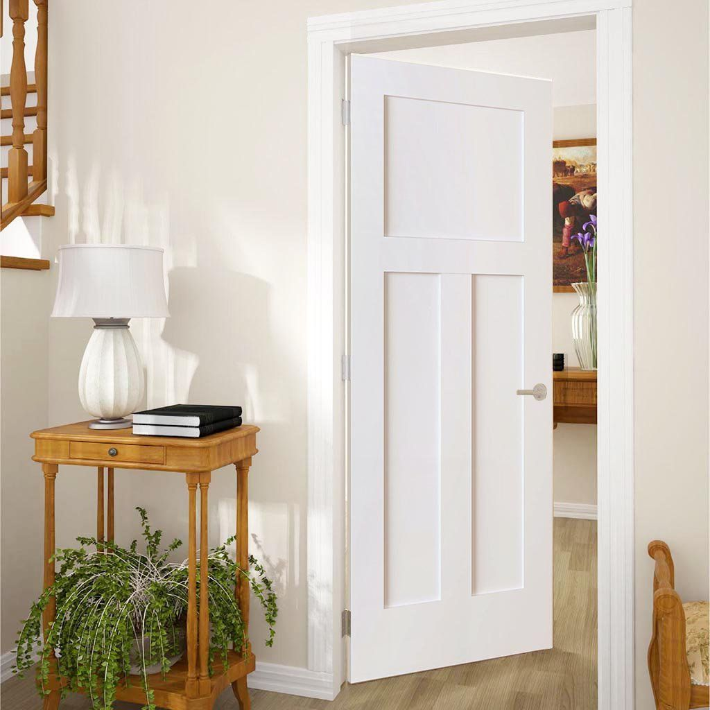 Shaker 1 2 Panel Solid Core White Interior Door Slab White Interior Doors Pine Interior Doors White Paneling