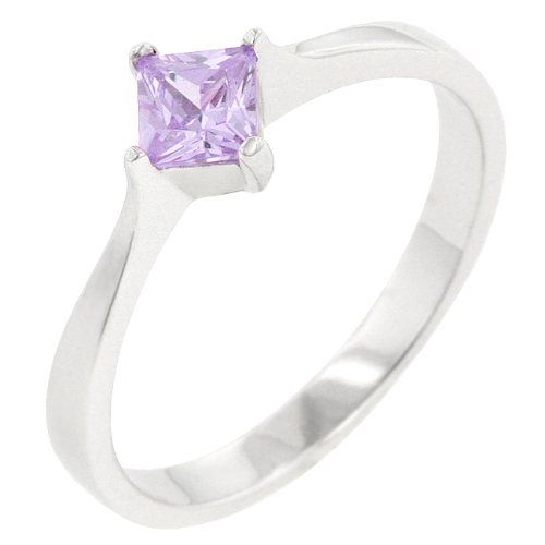 .925 Sterling Silver Petite Princess Cut Lavender Engagement Ring, Size 5, Gift-Boxed Silver Moon Bay http://www.amazon.com/dp/B00PMMJ9X0/ref=cm_sw_r_pi_dp_XWxBub1PTHWAF