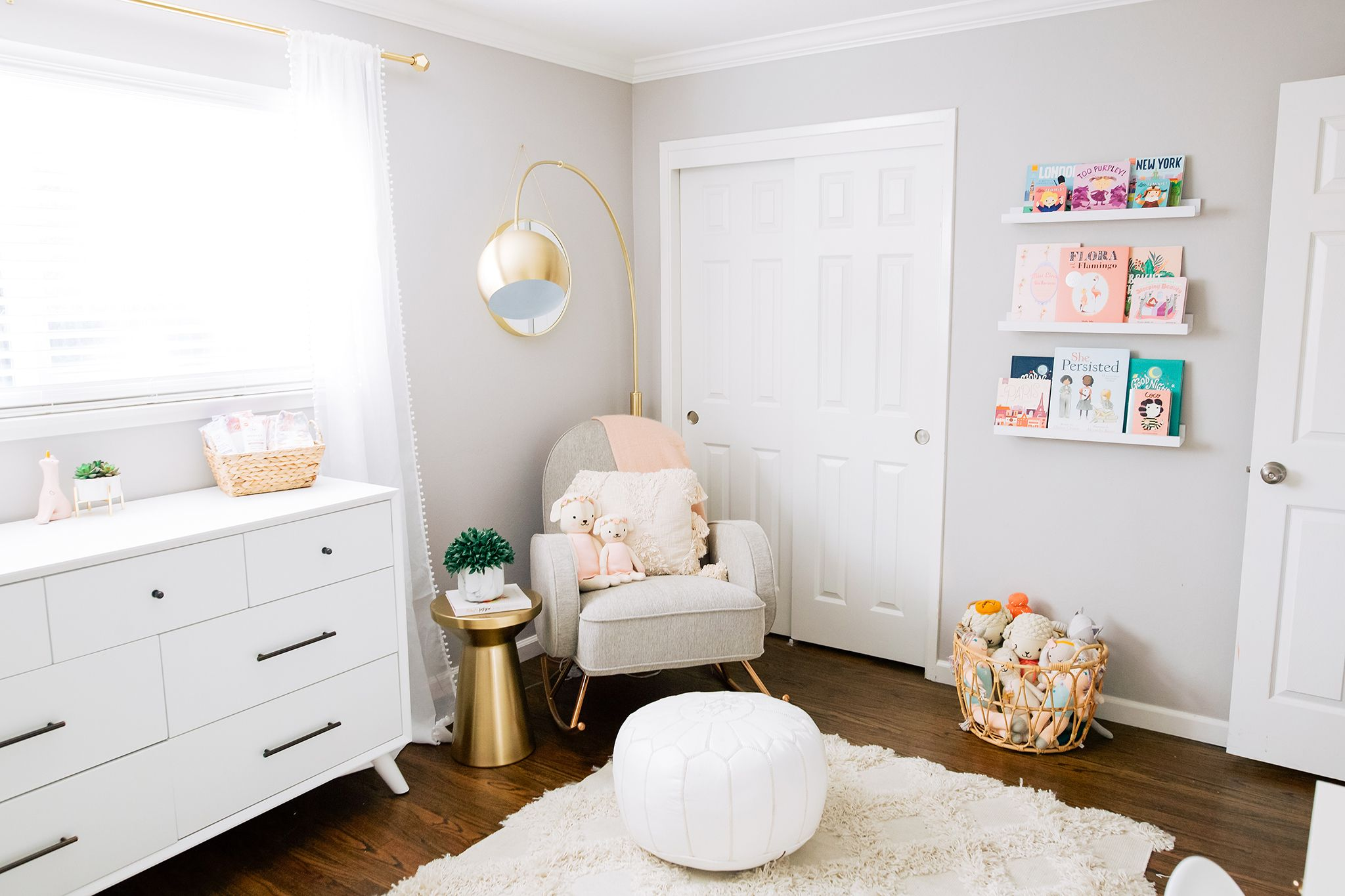 In The Nursery With Shannon Willardson Project Nursery In 2020 Childrens Room Rugs Nursery Floor Lamp Baby Room Design