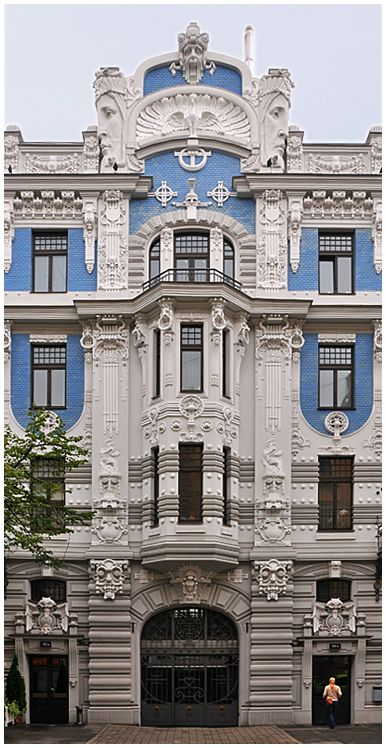 Jugendstil riga lettland architektur pinterest for Architektur jugendstil
