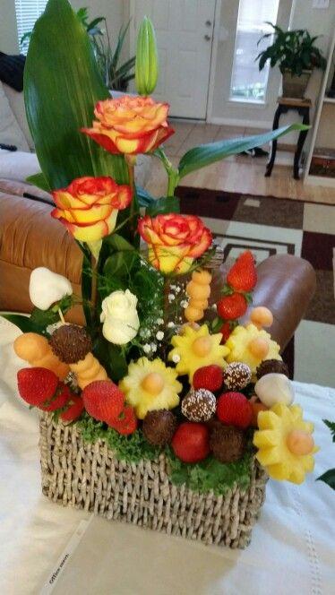 Arreglo De Flores Y Fruta Arreglos Frutales Arreglos