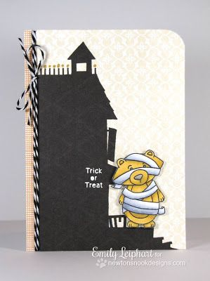 Halloween Bear Mummy Card By Emily Leiphart Using Boo Crew From Newtons Nook Designs