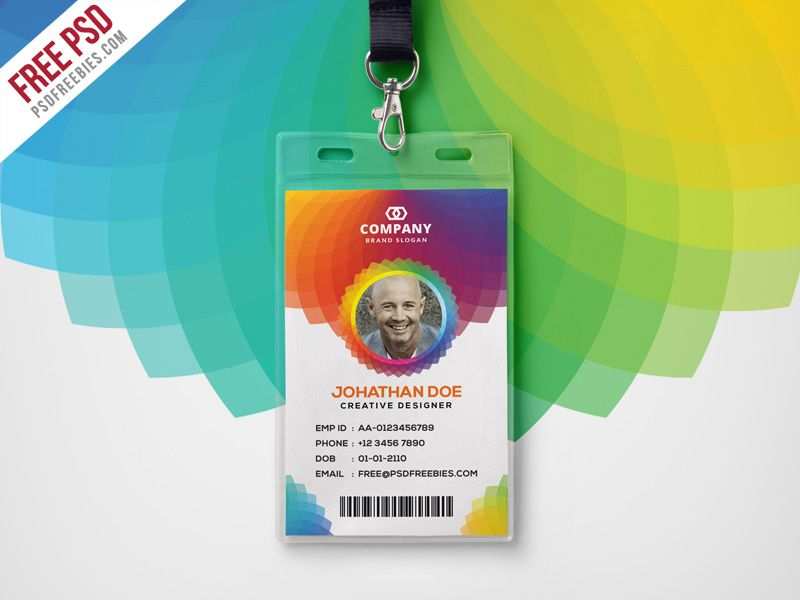 Cool Corporate Branding Identity Card Free PSD Download Free - id card