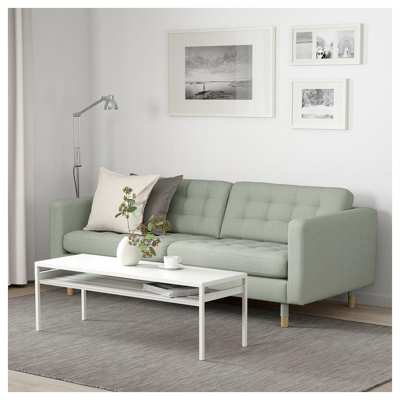 Landskrona 3er Sofa Gunnared Hellgrun Jetzt Kaufen Ikea Deutschland 2er Sofa Wohnzimmer Design Kleines Sofa