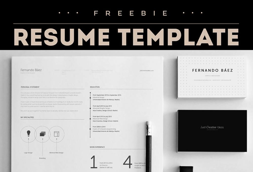 Free Resume Template  Psd Sources    Free Resume