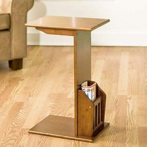 Slide Under Sofa Coffee Table Snack Table Wood End Tables Sofa