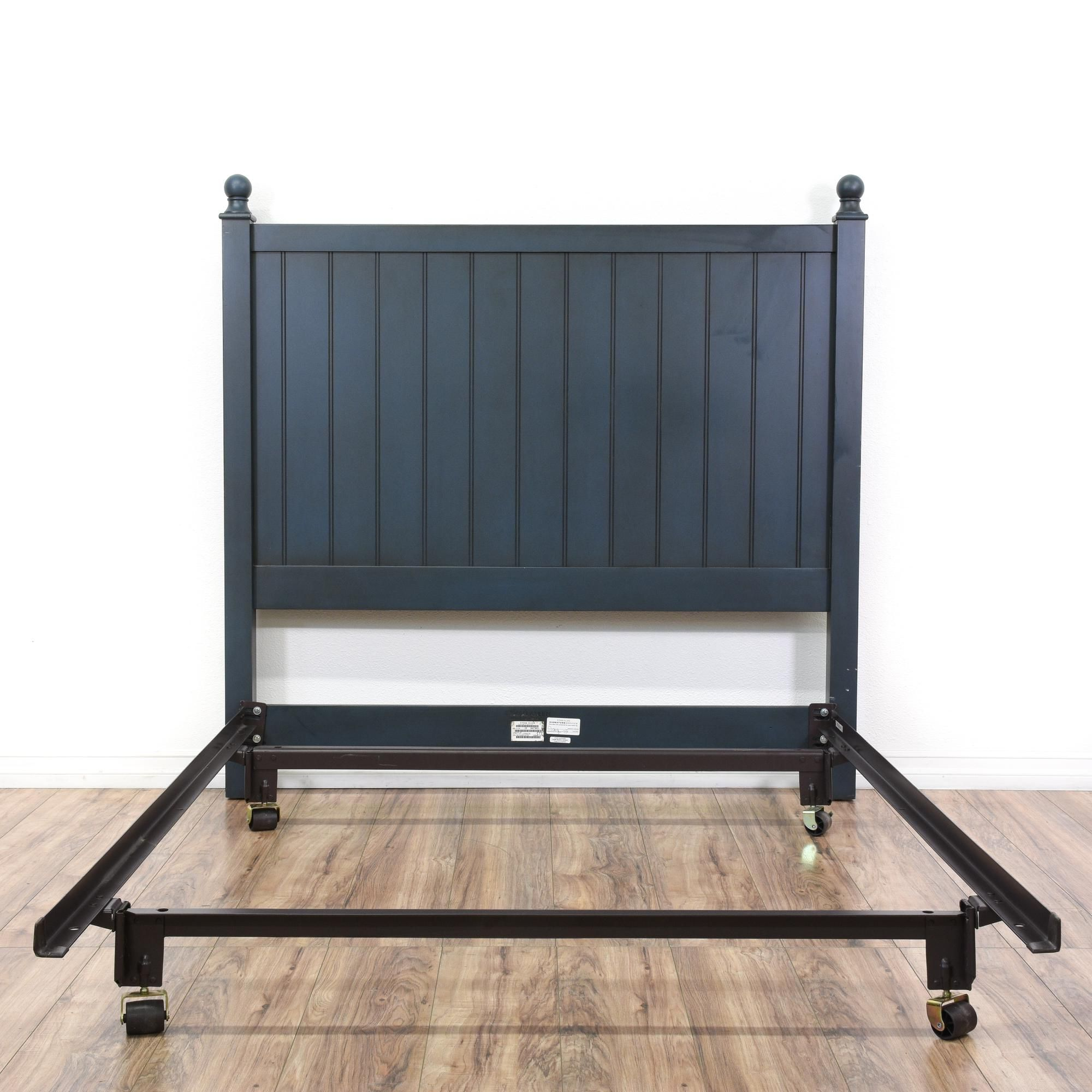 Ethan Allen Full Navy Bed Frame Contemporary Style Beds Bed