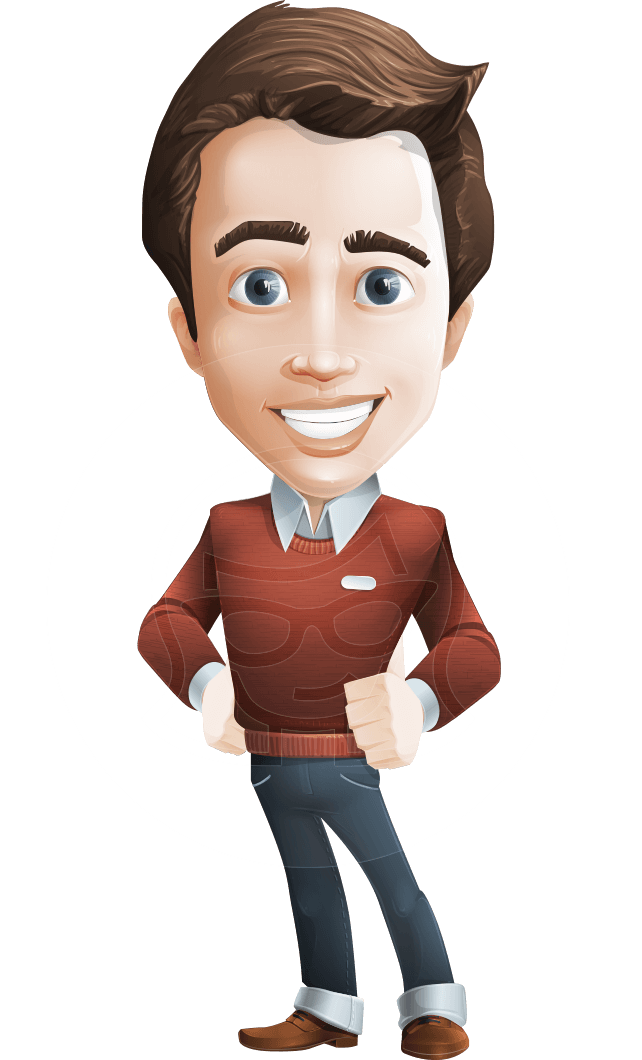 Vector Working Man Cartoon Character Sam The Workaholic Graphicmama Character Design Male Cartoon Character Design Brown Hair Cartoon