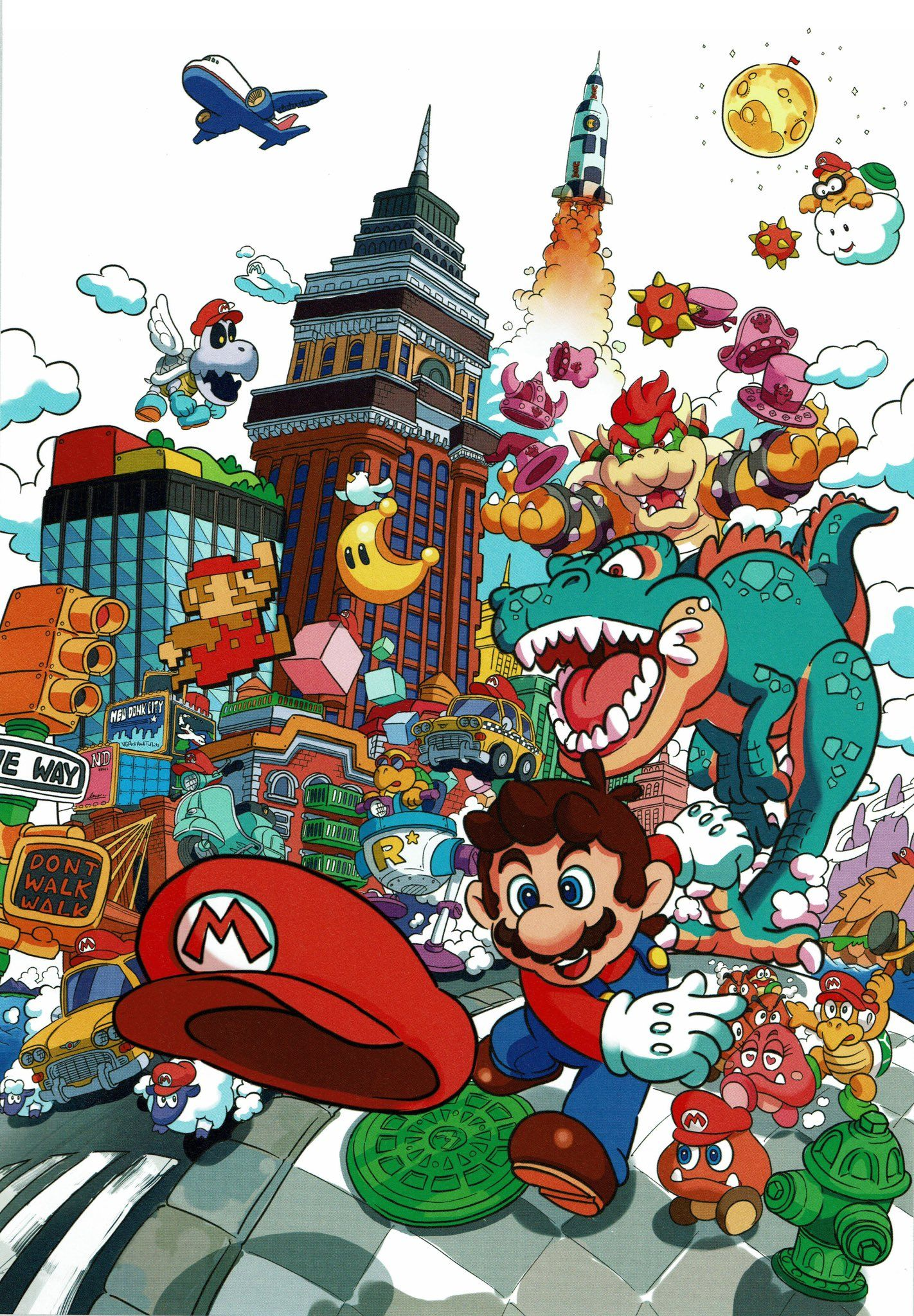VideoGameArt&Tidbits on Super mario art, Mario, luigi