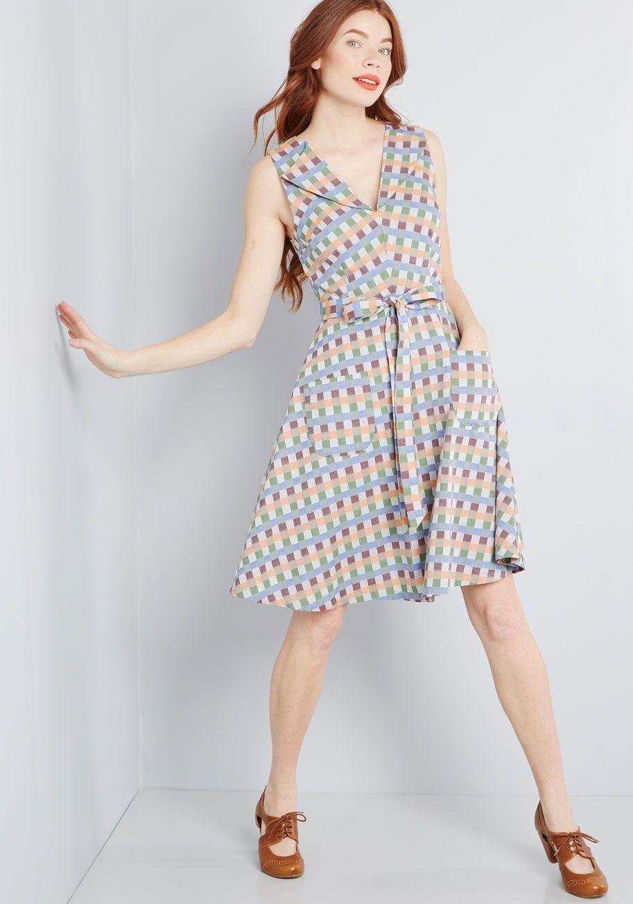 ad492729e50 ModCloth Looking Back Sleeveless Dress Multi