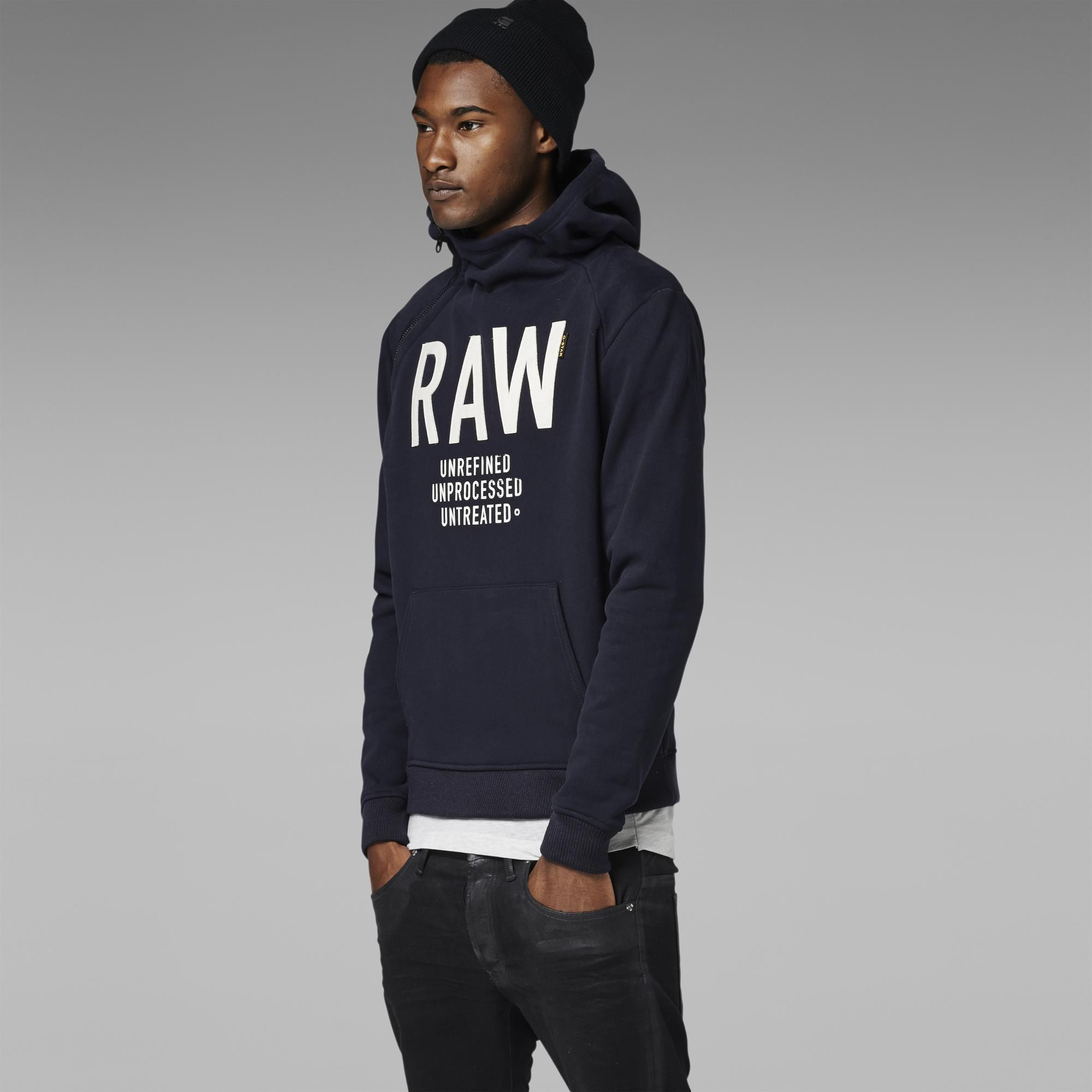 G-Star RAW | Men | Sweats | Art Navy Hooded Sweat