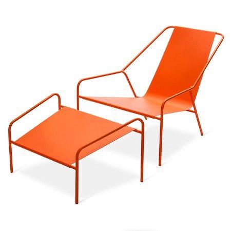Best Posture Chair And Ottoman Set Orange Modern By Dwell 400 x 300