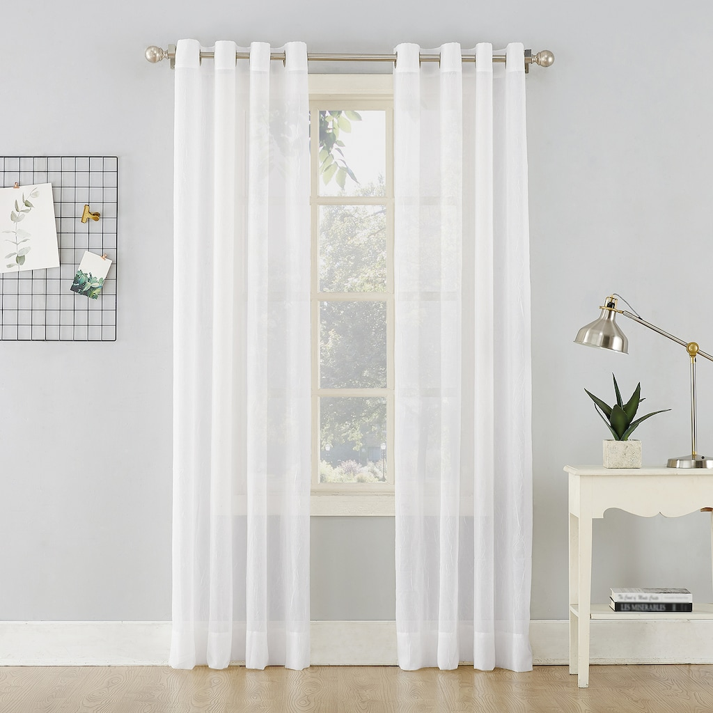 No erica crushed sheer voile curtain panel products