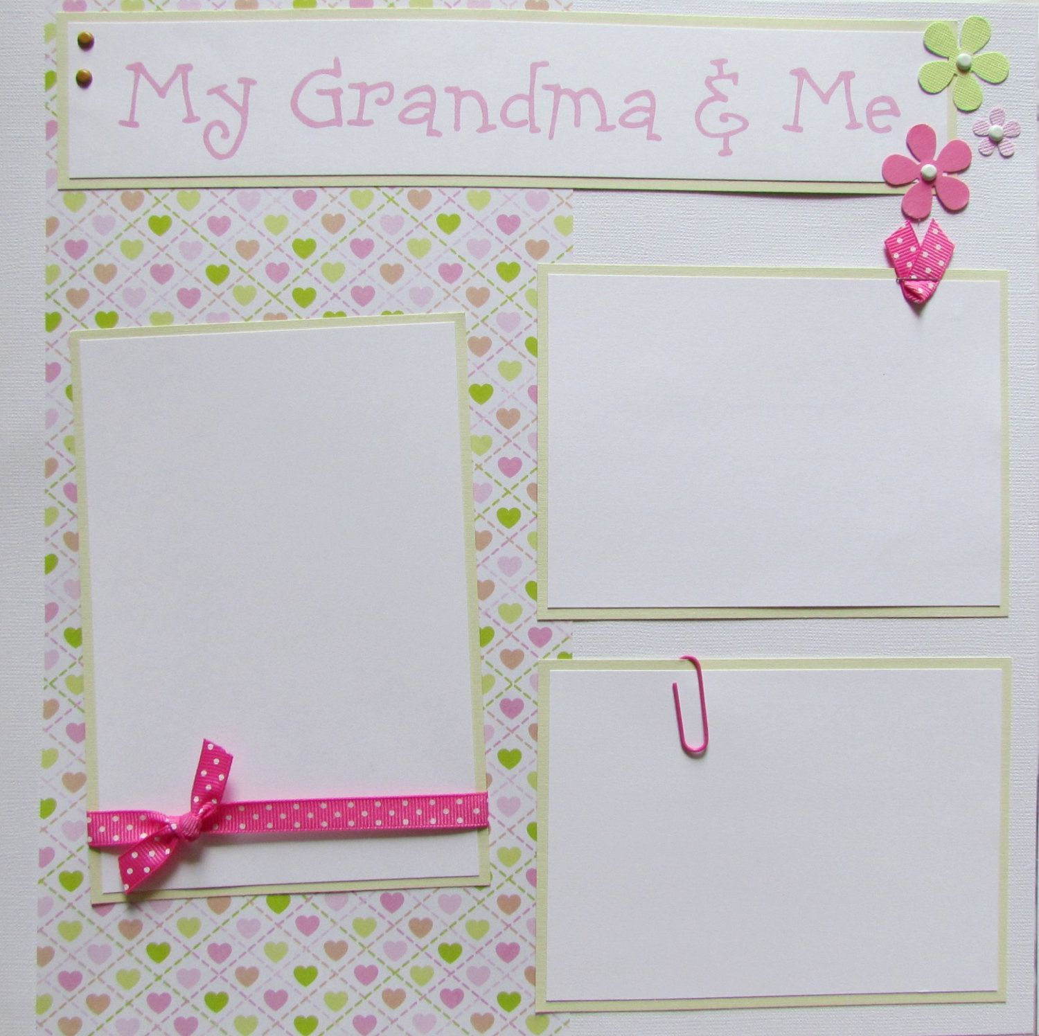 Premade Scrapbook 12x12 Pages Layout  MY GRANDMA &