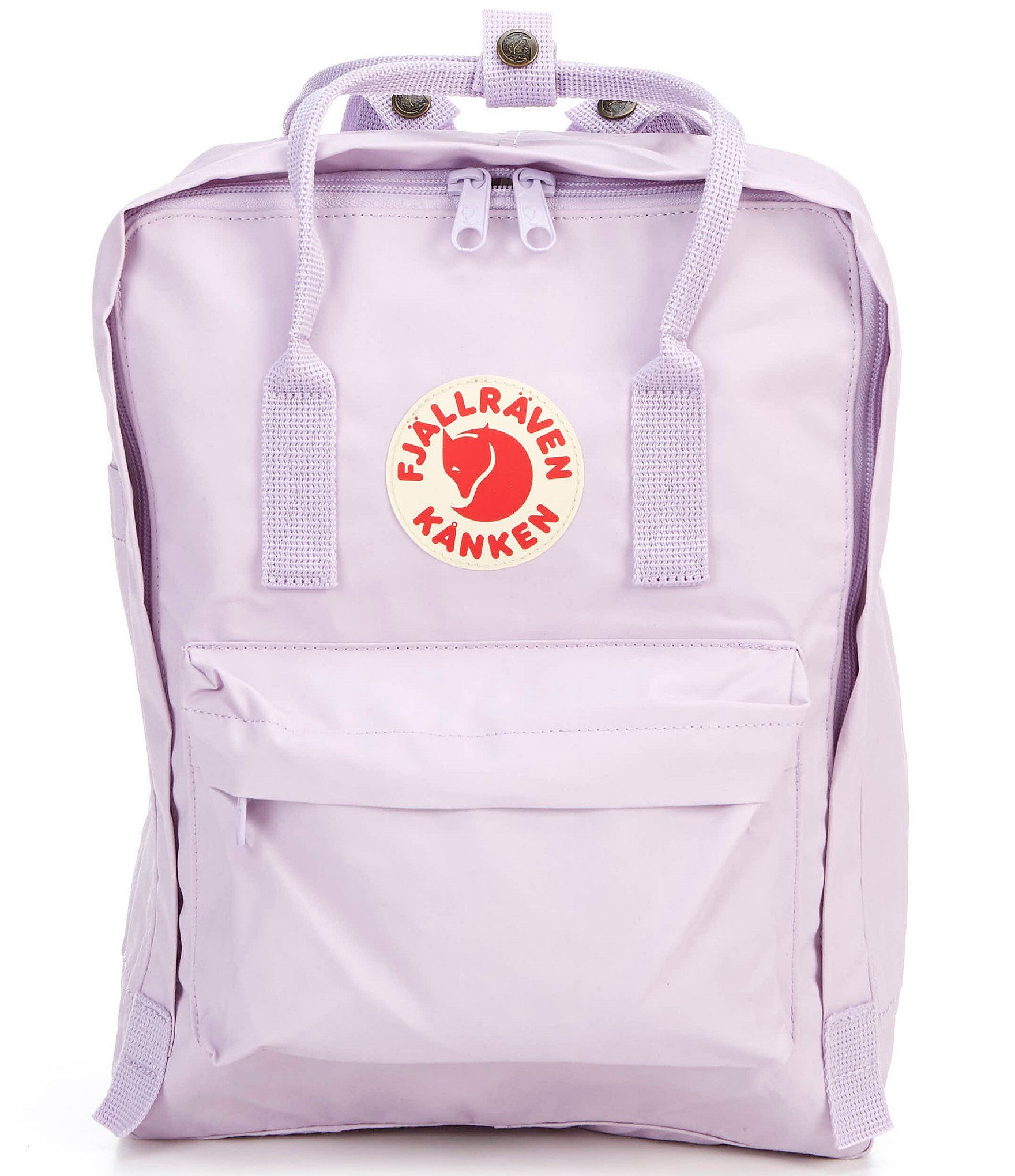 From Fjallraven, the Kanken Water-Resistant Convertible Backpack features:Durable water-resistant cotton Vinylon fabricZipper closureRemovable seat padFront and side pocketsZip pocket outsideDouble convertible straps for bag or backpack wearApprox. 14.9