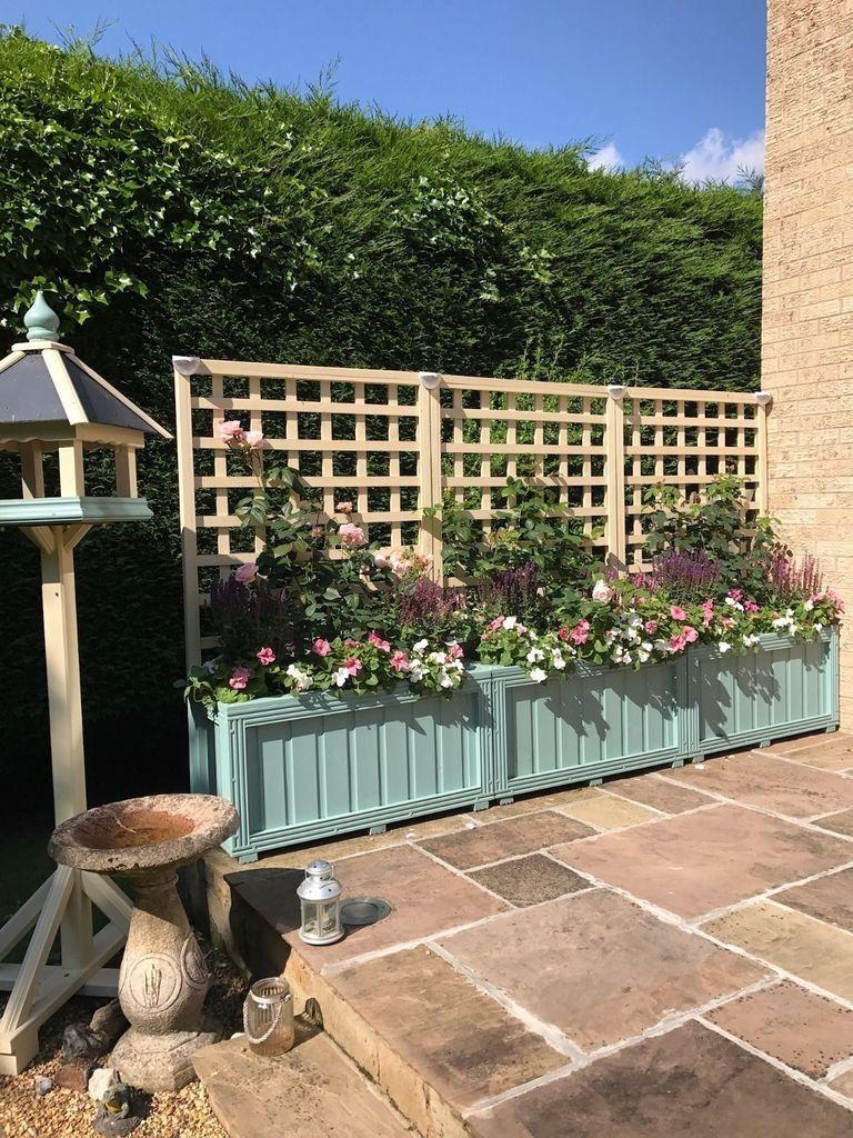 35 Fabulous Wooden Fences For Front Yard Remodel Jardiniere En Bois Idees De Treillis Et Treillis Bois