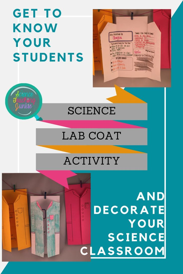 Poster design ideas for school - First Day Of School Activity Students Create A Science Lab Coat Get To Know