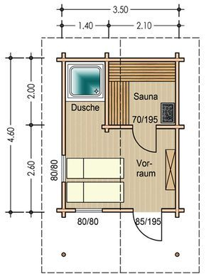 Sauna plan google search chill out pinterest for Sauna layouts floor plans