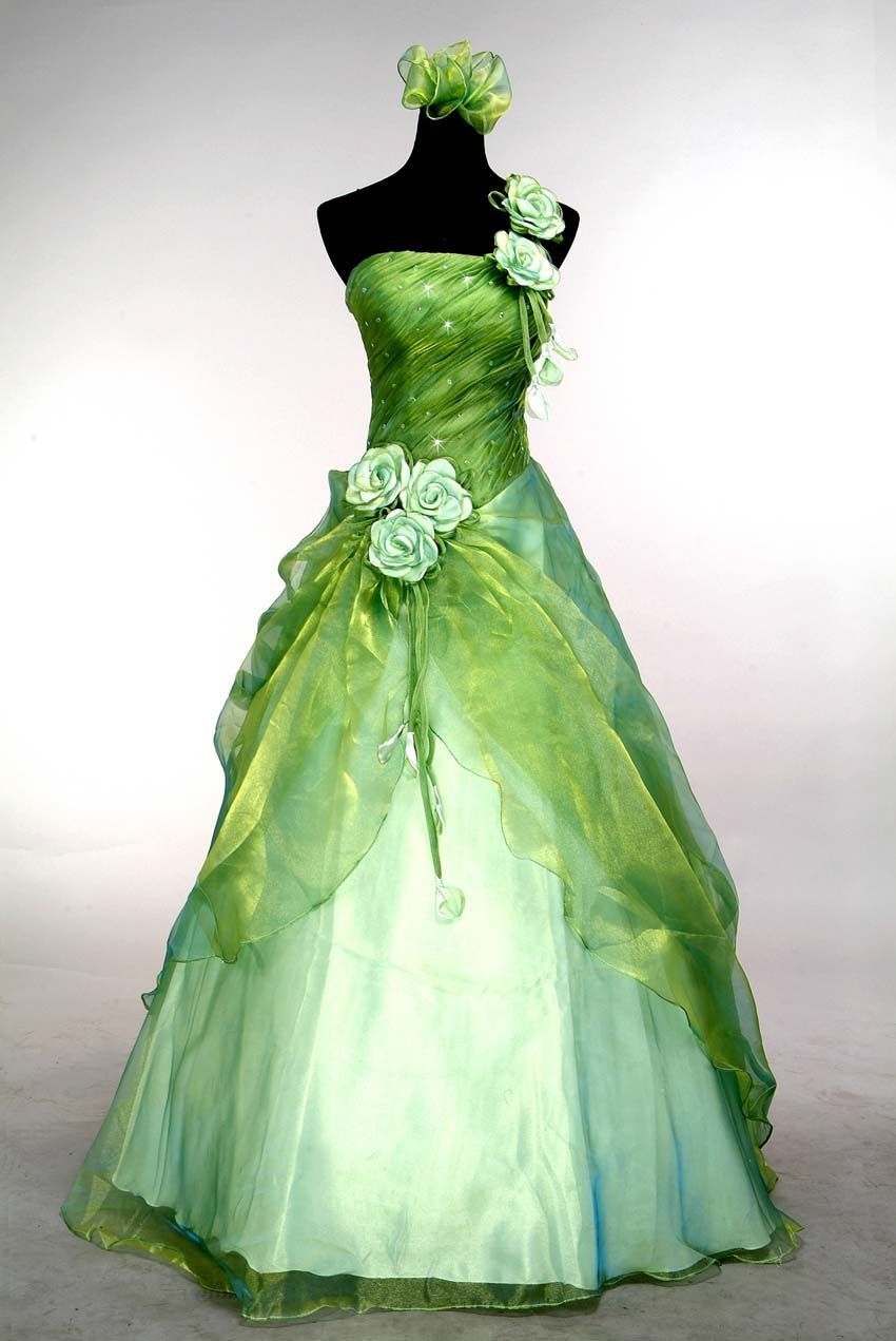 Stock Green Prom/Ball Dress/Gown Size 6 8 10 12 14 16   Princess ...