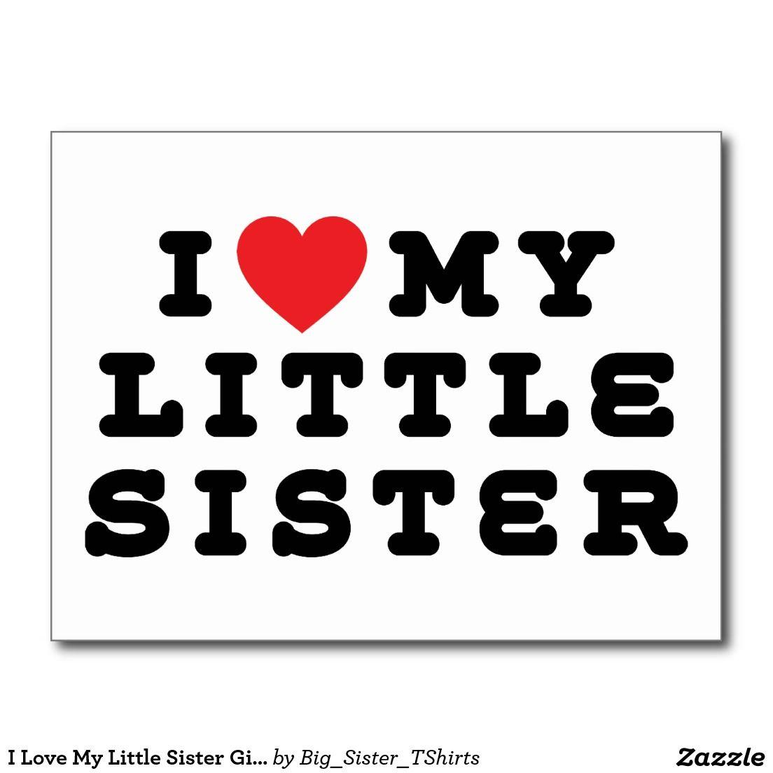I Liebe Mein Kleine Schwester Geschenk Postkarten Lusteg Love My
