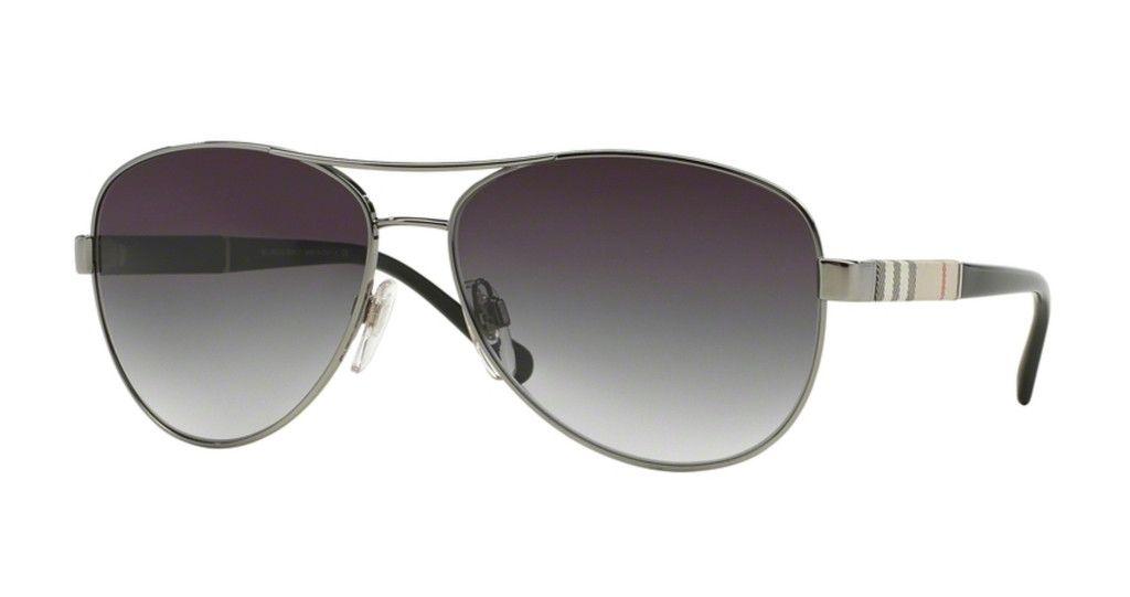 Burberry BE3080 Gunmetal Sunglasses